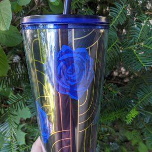 NWT Black Blue Rose Starbucks Tumbler Fall 2020